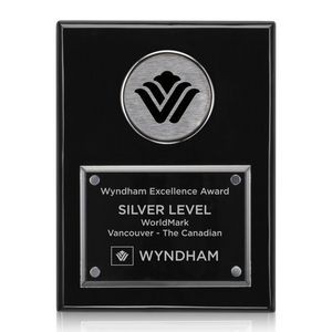 "Jansenn Plaque - Black/Chrome 9""x12"""